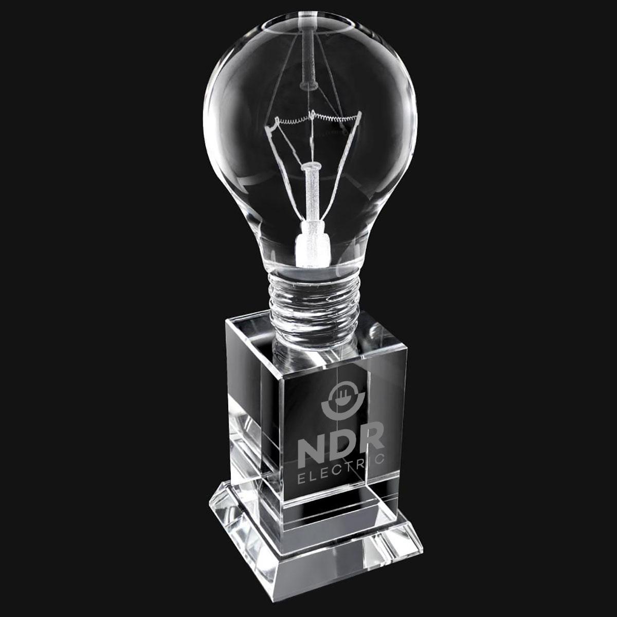 "CRYSTAL LIGHT BULB 8"" AWARD"