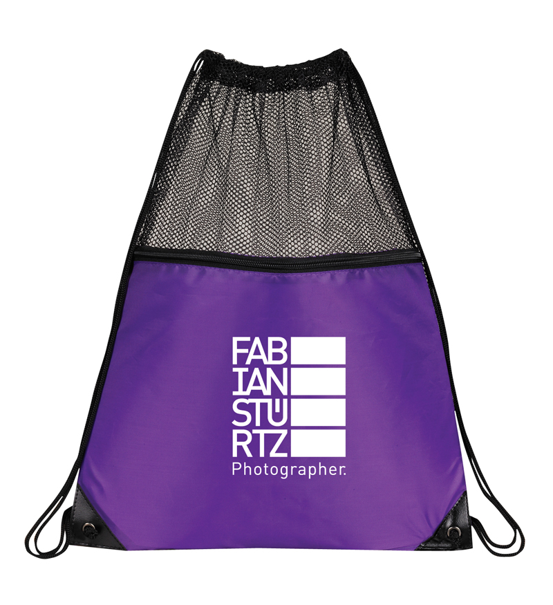 FITNESS MESH DRAWSTRING BAG