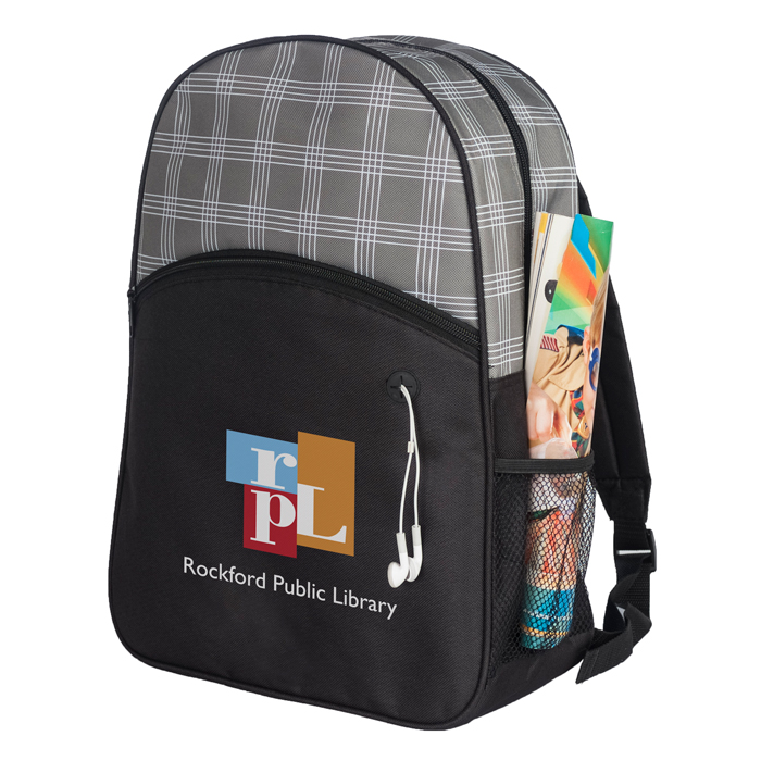 HARPER PLAID BACKPACK