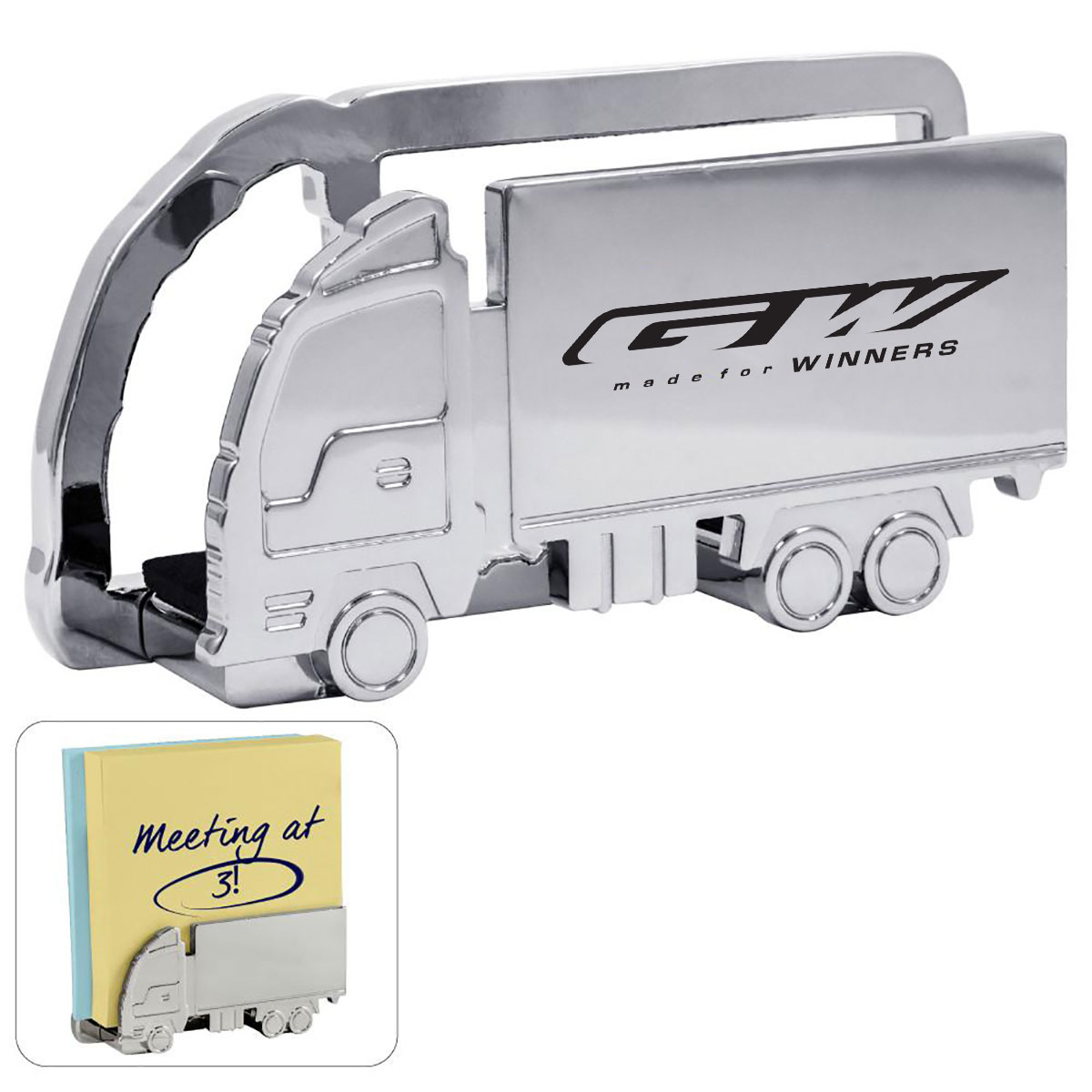TRUCK SHAPED METAL MEMO-MAIL HOLDER