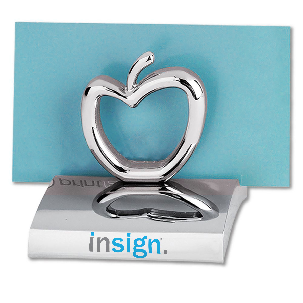 APPLE CHROME BUSINESS CARD HOLDER