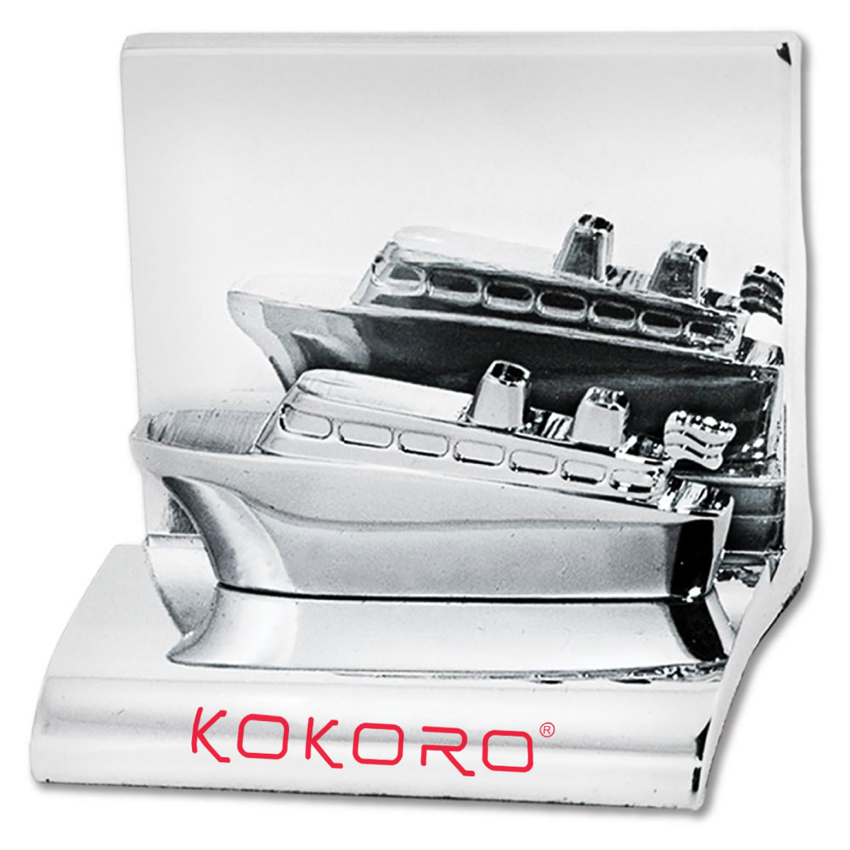 CRUISE SHIP CHROME BUSINESS CARD HOLDER