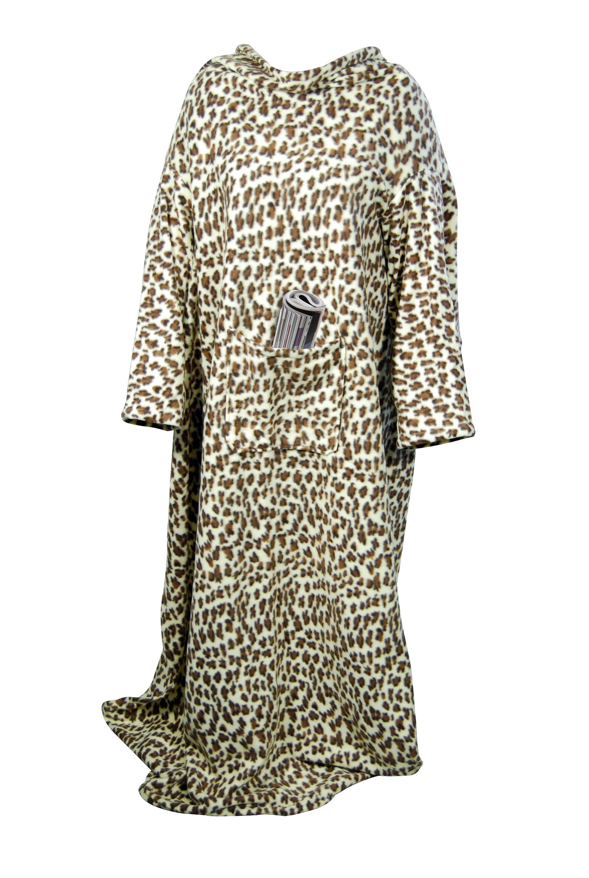 ANIMAL PRINT COZY BODY BLANKET