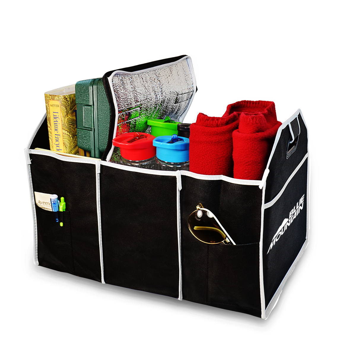 EXPANDABLE AUTO TRUNK ORGANIZER W/ COOLER COMPARTMENT