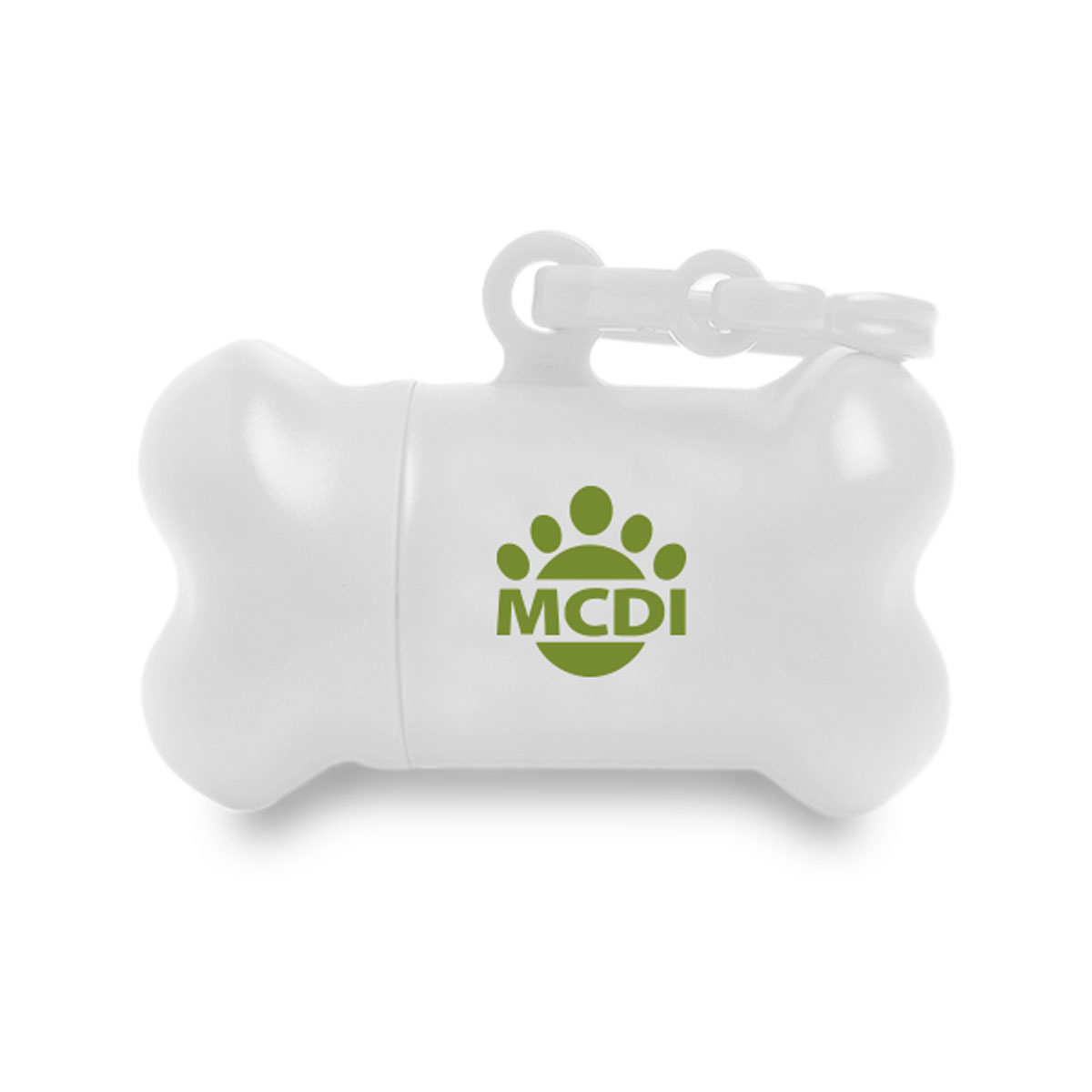 PORTABLE BONE SHAPED BAG DISPENSER