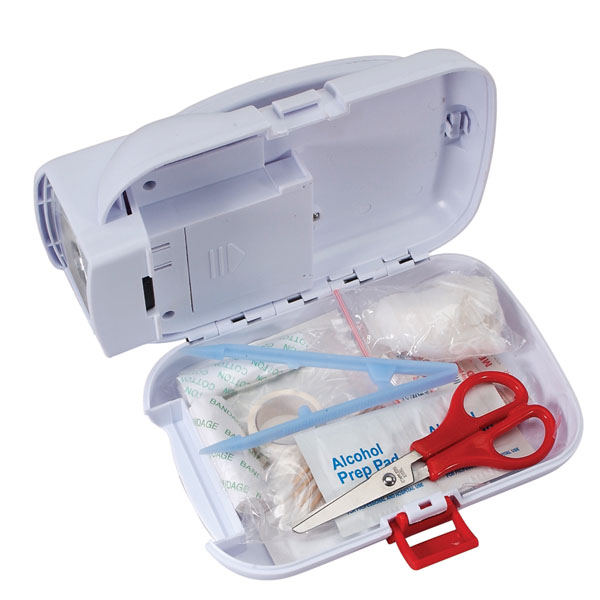 FIRST AID KIT & EMERGENCY FLASHLIGHTS