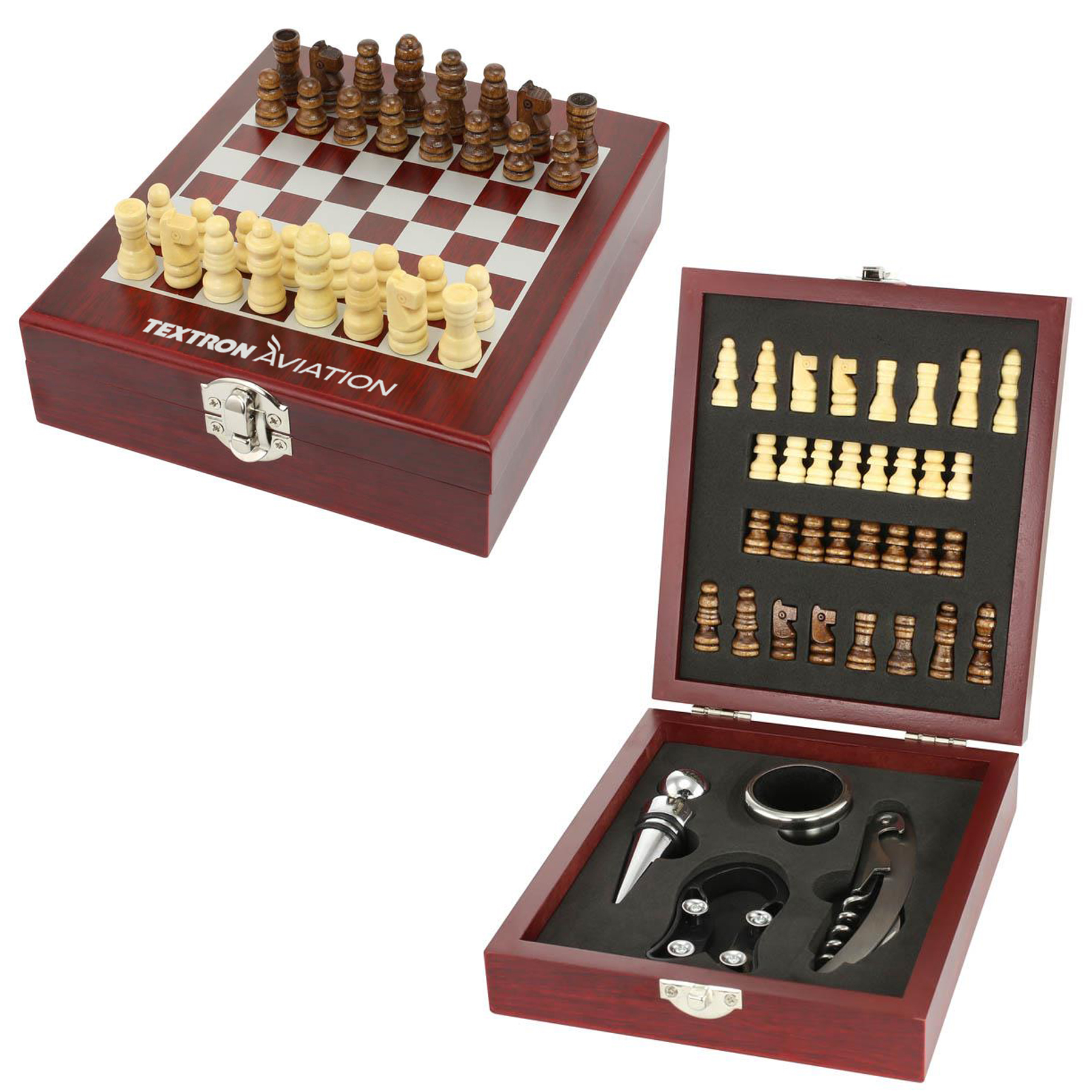 WINE TOOL KIT AND CHESS SET