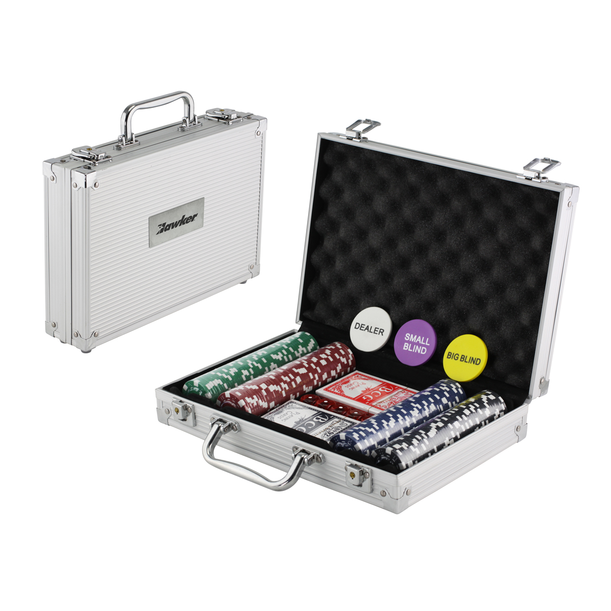 STEVE 200 PIECE ALUMINUM POKER SET