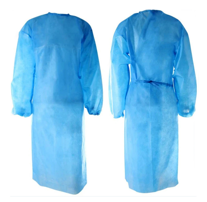 LEVEL 1 PP DISPOSABLE GOWNS WITH ELASTIC CUFFS