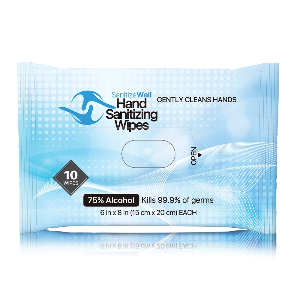 SANITIZE WELL 10 PCS ANTIBACTERIAL WET WIPES