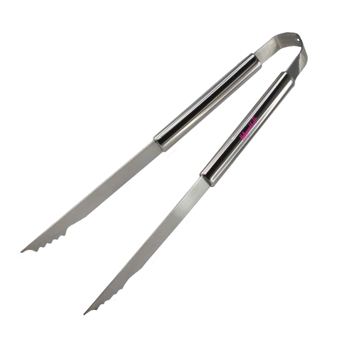 OVERSIZED STAINLESS STEEL BARBEQUE GRILLING TONGS