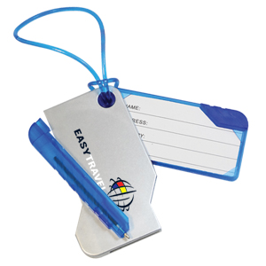 SWING LUGGAGE TAG WITH PEN