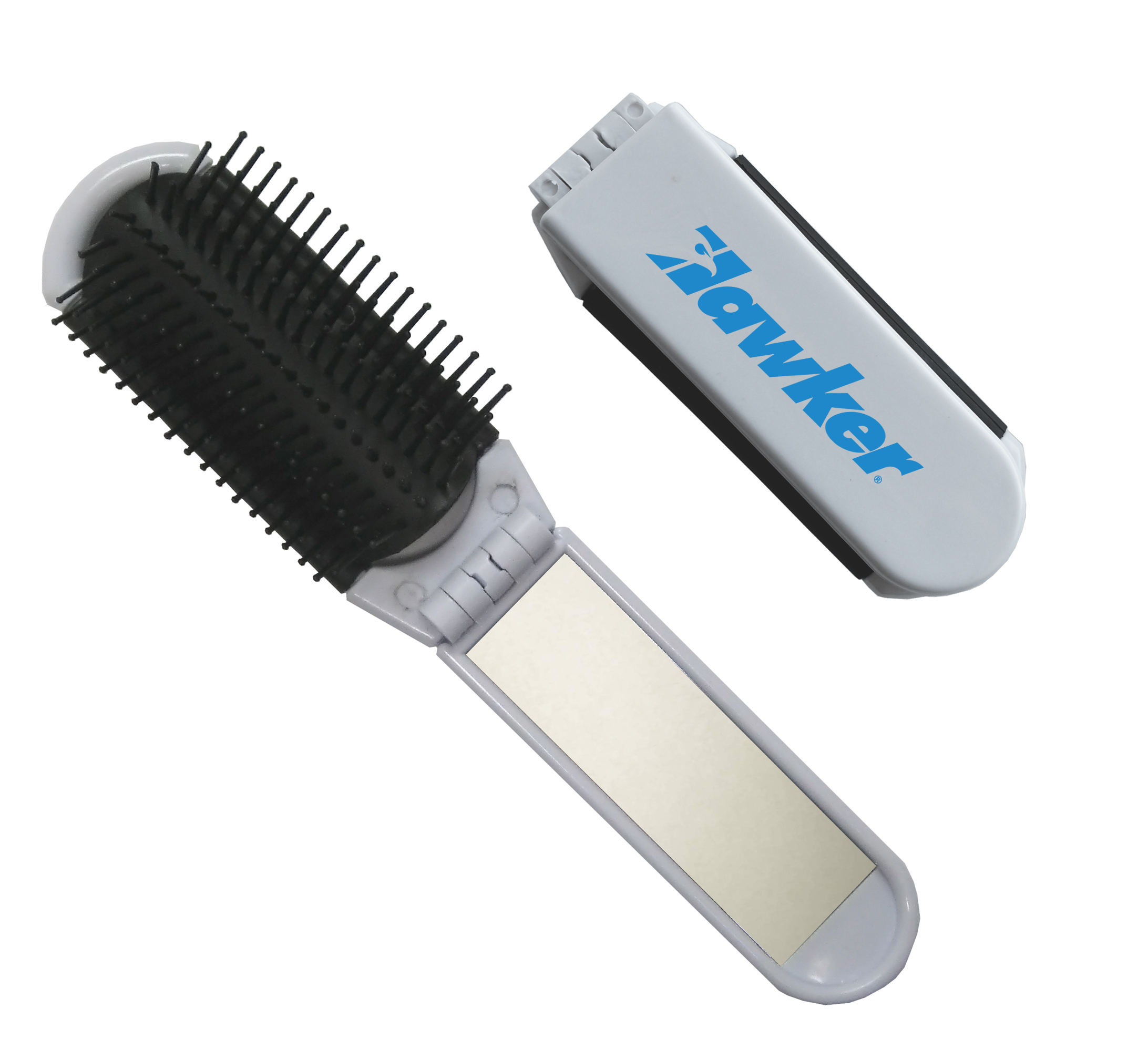 FOLDING BRUSH/MIRROR COMBO