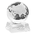 ELEGANT GLASS GLOBE PAPERWEIGHT