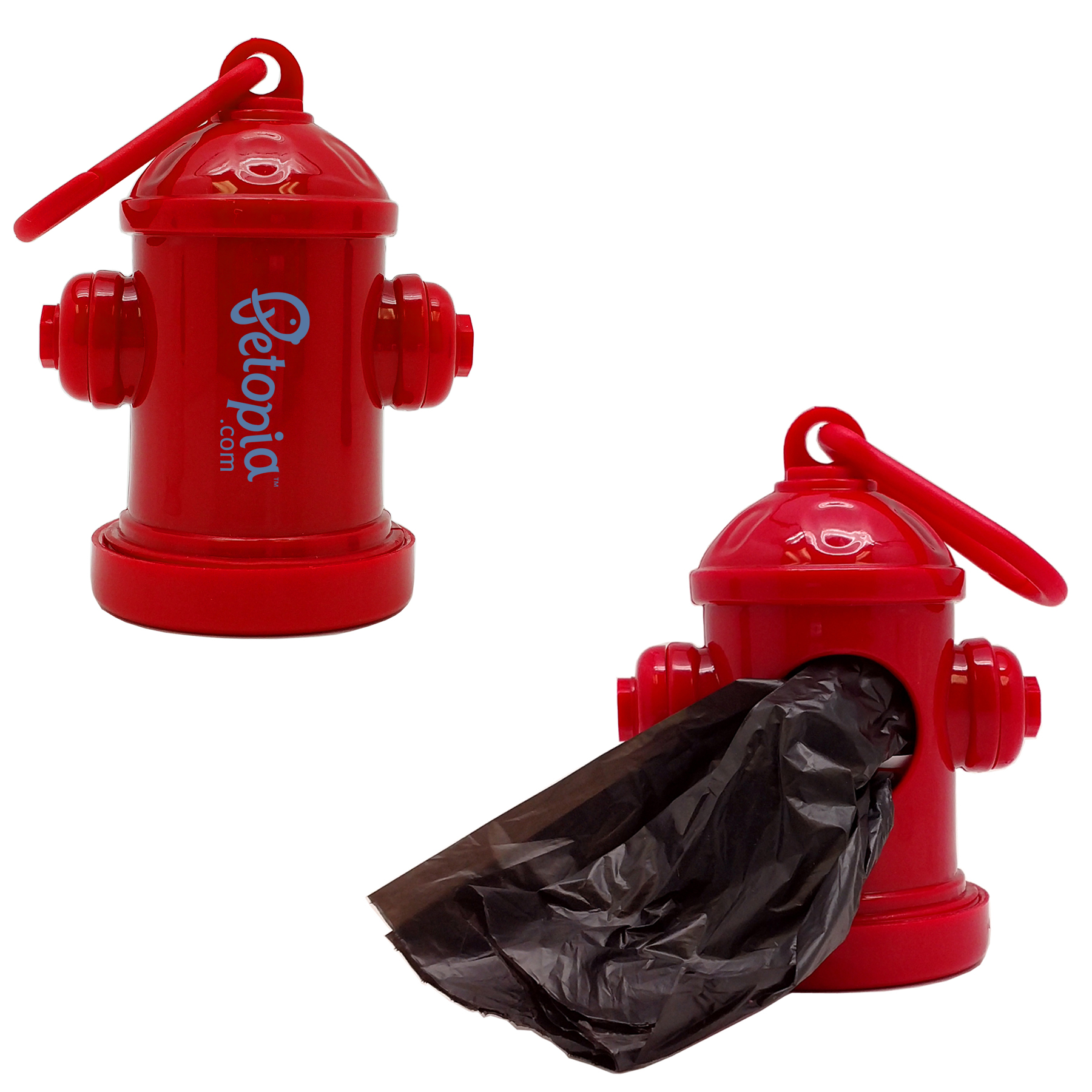 PORTABLE HYDRANT SHAPED BAG DISPENSER