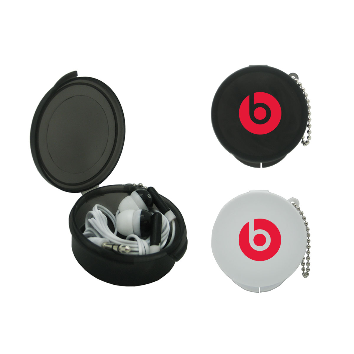 ROUND POCKET CASE WITH EARBUDS