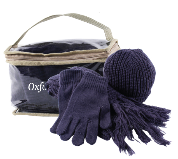 4 PIECE WINTER KNIT SET W/ BAG